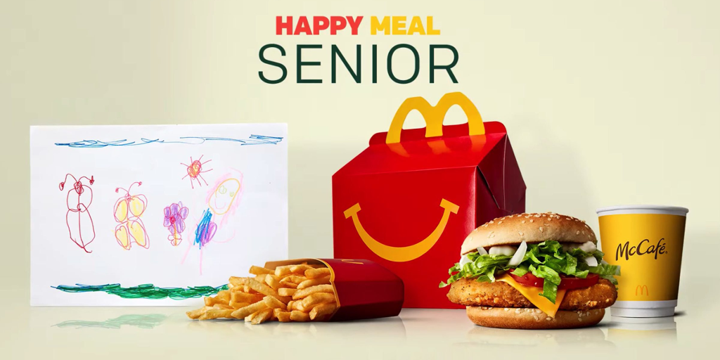 Happy Meal Senior chez Mc Donald's