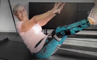 Star du Fitness à 81 ans