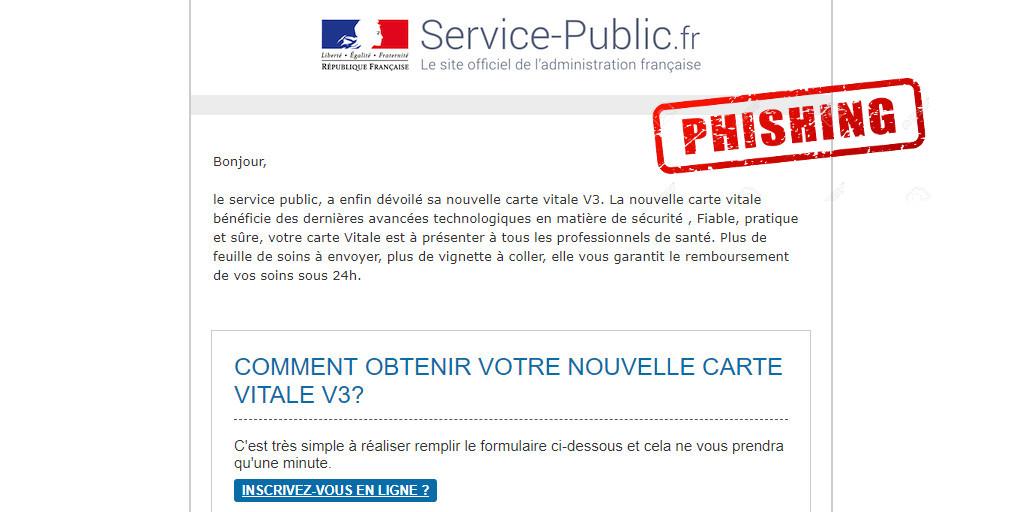 Carte Vitale V3 : Phishing !