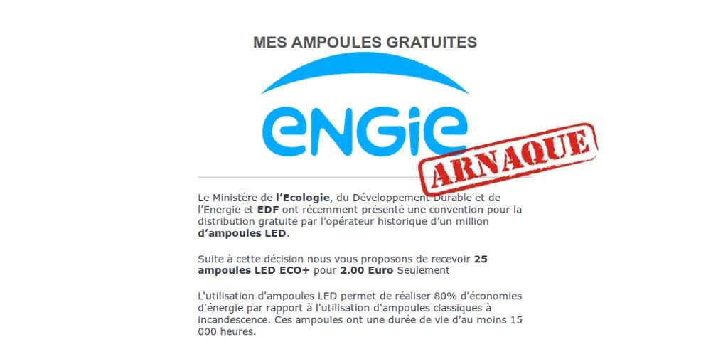 Ampoules gratuites : ARNAQUE !
